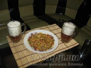 мидии и пиво